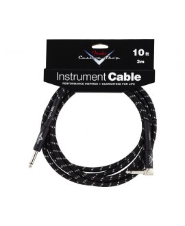 Cable Acodado Jack-Jack Fender Black Tweed 3 m.