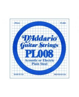 Cuerda Guitarra Eléctrica D´Addario PL-008