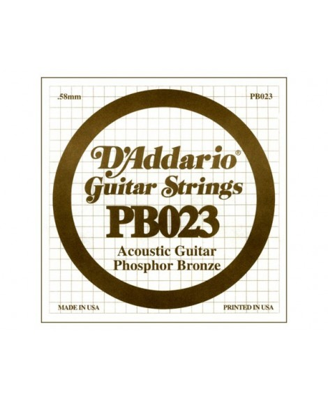 Cuerda Guitarra Acústica D´Addario PB-023