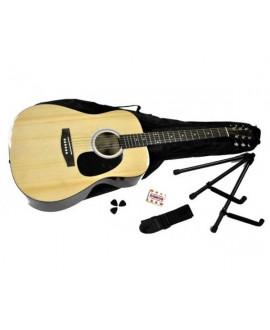 Pack Guitarra Acústica Rochester