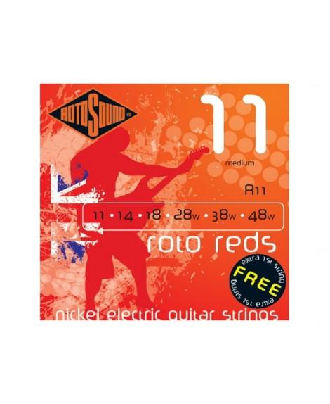 Juego Cuerdas Guitarra Eléctrica Rotosound Roto Reds R11 11-48