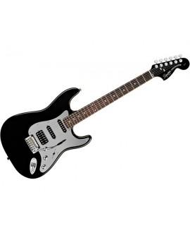 Guitarra Eléctrica Squier Black Chrome Standard Stratocaster HSS