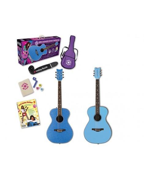 Pack Guitarra Acústica Daisy Rock Pixie Starter Pack Blue
