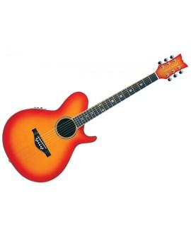 Guitarra Acústica Daisy Rock Wildwood Artist Deluxe Sunset Burst