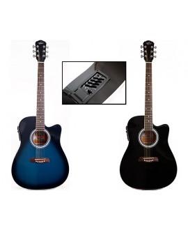 Guitarra Acústica Electrificada Oscar Schmidt OD45CEBLBPAK