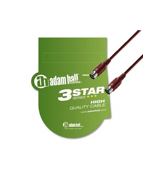 Cable Midi Adam Hall 1.5m Rojo