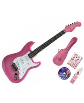 Pack Guitarra Eléctrica Gypsy Rose Strato Pink
