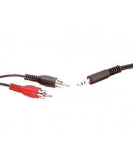Cable Inyectado 2RCA - Mini Jack Stereo 3m