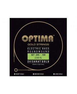Juego Cuerdas Bajo Optima E-Bass Gold Strings
