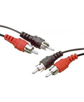 Cable Inyectado 2RCA Machos - 2RCA Machos
