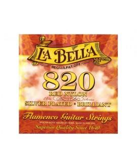 Juego Cuerdas Guitarra Clásica La Bella Flamenco 820