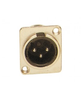 Conector XLR Macho Chasis Work CB41